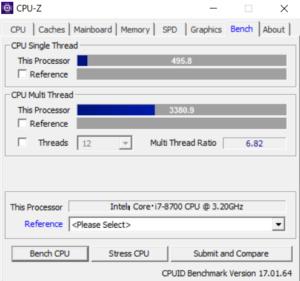 NG5500 CPU ベンチ