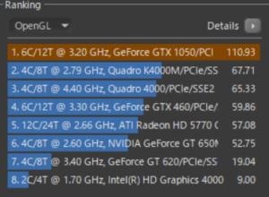 NG5500 cinebenche GL GTX1050 4GB