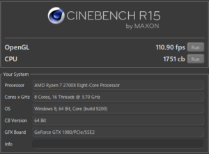 LITTLEGEAR a340PA1 CINEBENCH GPU