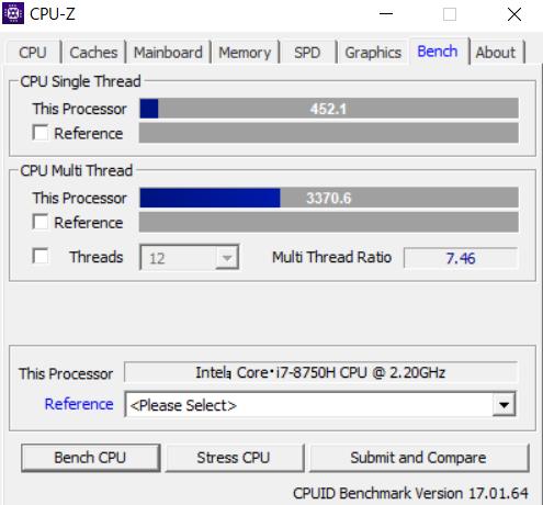 SENSE-15FX079-i7-LNSV cpuz ベンチ