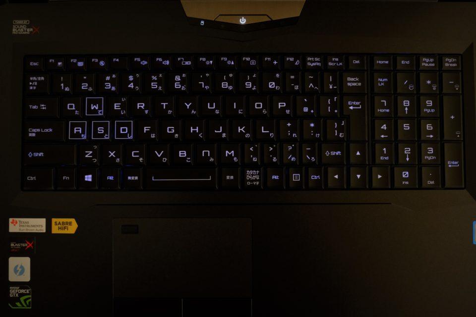 DAIV-NG7620M2-M2SH5-RAW キーボード