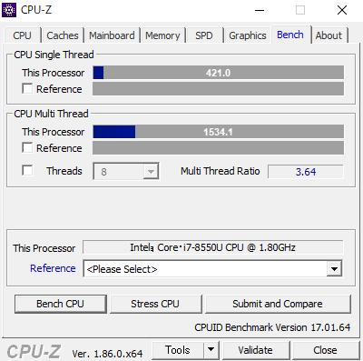SENSE-14FH054-i7-RNSS CPUZ スコア