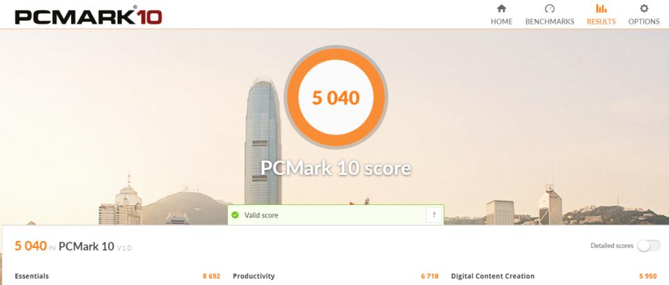 NEXTGEAR-NOTE i7920 PCmark10