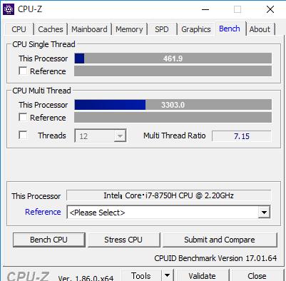 スコアNEXTGEAR-NOTE i7920 cpuz