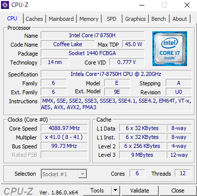 NEXTGEAR-NOTE i7920 cpuz