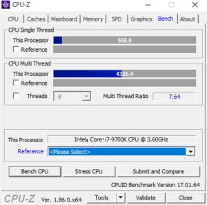 DAIV-DGZ530S4-M2SH2 cpuz Core i7-9700K
