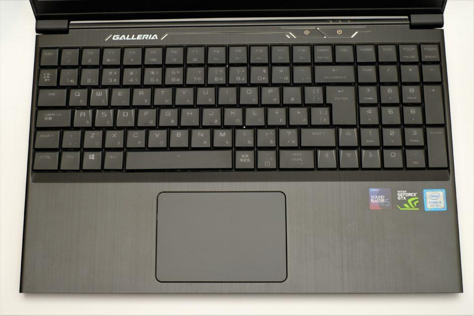 ドスパラ GALLERIA GCF1050TGF-E キーボード