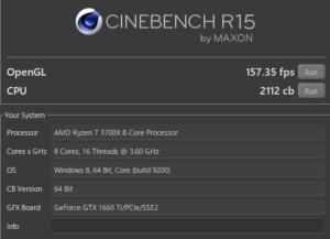 LUV MACHINES AGシリーズ CINEBENCH Ryzen 7 3700X GTX1660Ti