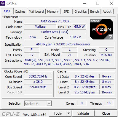 LUV MACHINES AG CPUZ Ryzen 7 3700X