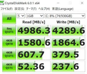 DAIV A7,SSD,gen4,Cドライブ