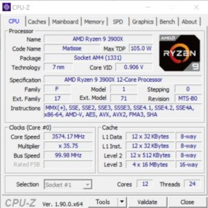 DAIV A7,Ryzen 9 3900X,CPUZ,,
