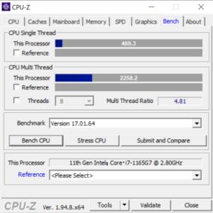 DAIV 4N,2021,マウスコンピューター,mouse,レビュー,CPU性能,Core i7-1165G7