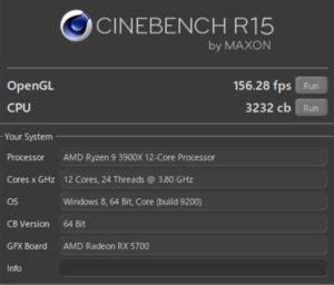DAIV A7,CINEBENCH,RX5700,ベンチマーク