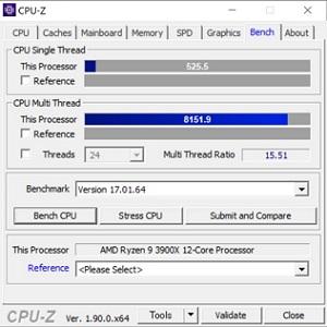 DAIV A7,Ryzezn 9 3900X,CPUZ,ベンチマーク,,