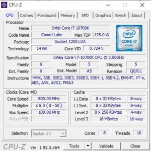 DAIV Z9,Core i7-10700K,ベンチ性能