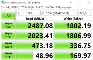 DAIV Z5,SSD,転送速度,