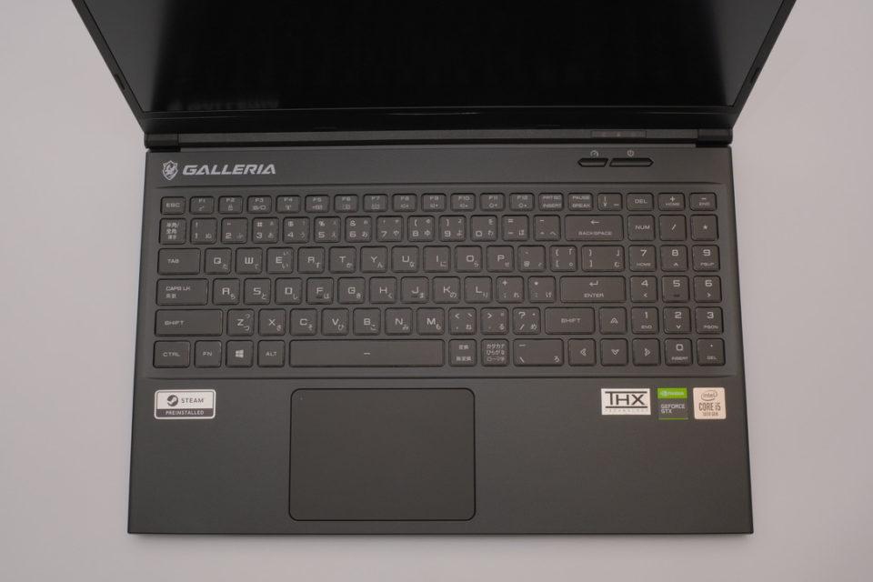 GALLERIA GCL1650TGF,キーボード