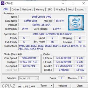 DAIV Z5,Core i5-9400,性能,ベンチ