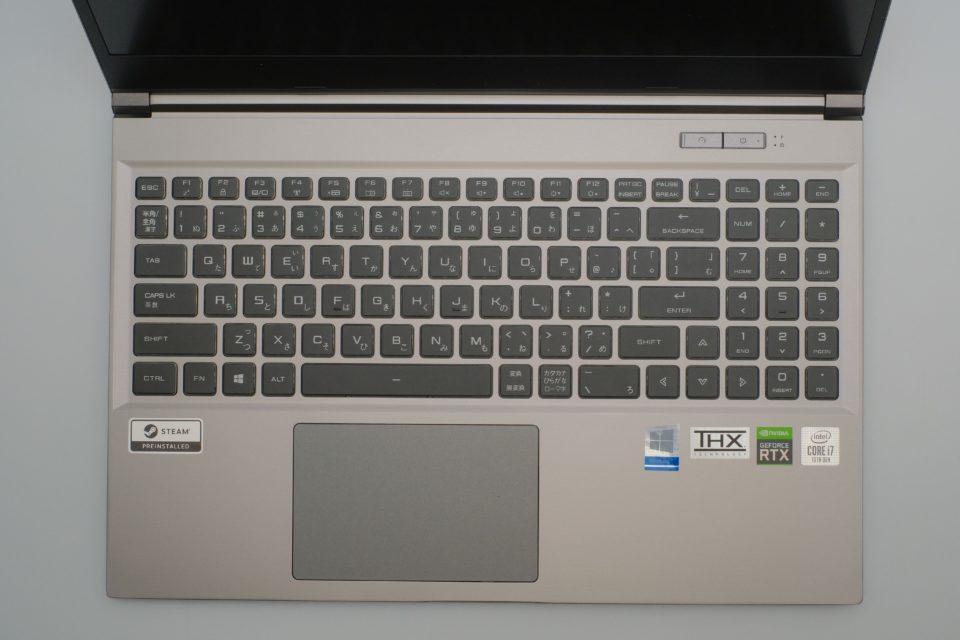 GALLERIA GCL2060RGF-T,ドスパラ,レビュー,キーボード