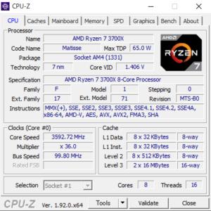DDAIV 5D,Ryzen 7 3700X,CPUZ,