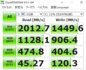 DAIV 5P,2020,SSD,転送速度,