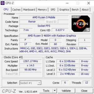 GALLERIA GR1650TGF-T,CPU,Ryzen 5 4600H