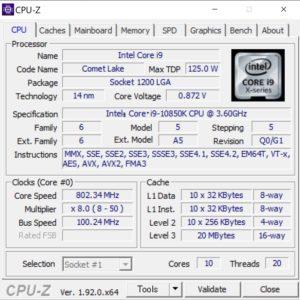 Core i9-10850K,CPU,性能,ベンチ