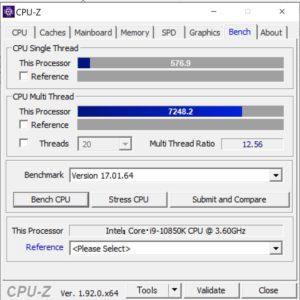 ドスパラ,GALLERIA ZA9C-R39,Core i9-10850K,CPU,性能,ベンチ