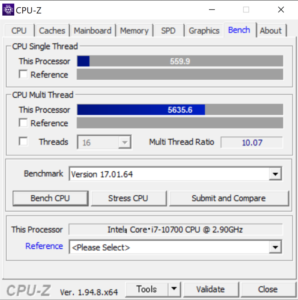 DAIV 7N,CPUZ,性能,Core i7-10700