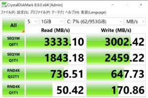 raytrek ZF,ドスパラ,SSD,転送速度