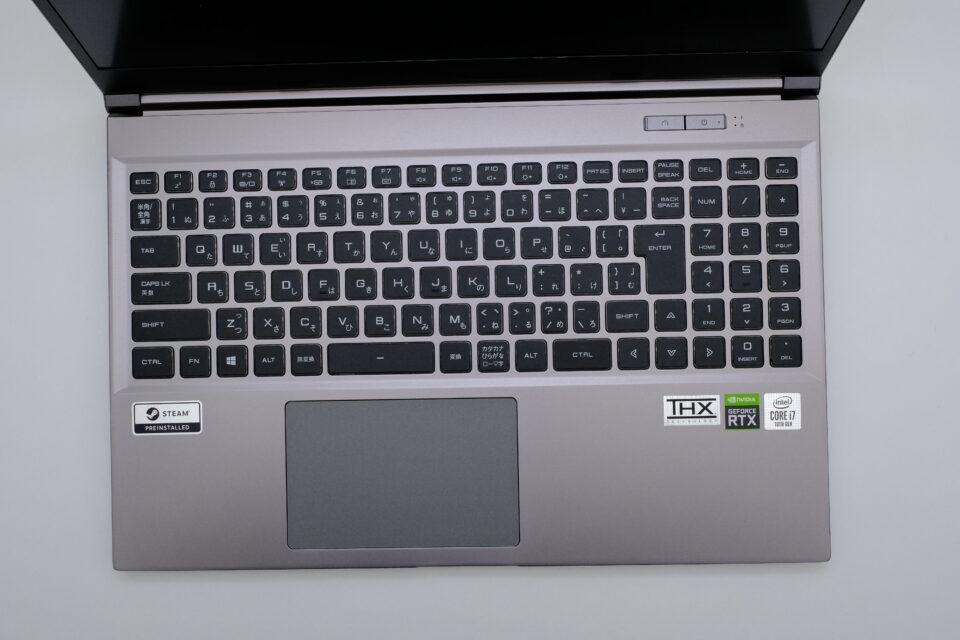 ドスパラ,GALLERIA XL7C-R36,レビュー,感想,写真,キーボード