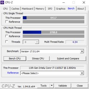 DAIV 4P,レビュー,CPU性能,Core i7-1165G7