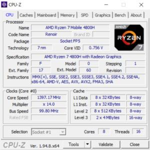 ドスパラ,raytrek G5-R,レビュー,ブログ,CPU,Ryzen 7 4800H,性能,ベンチマーク