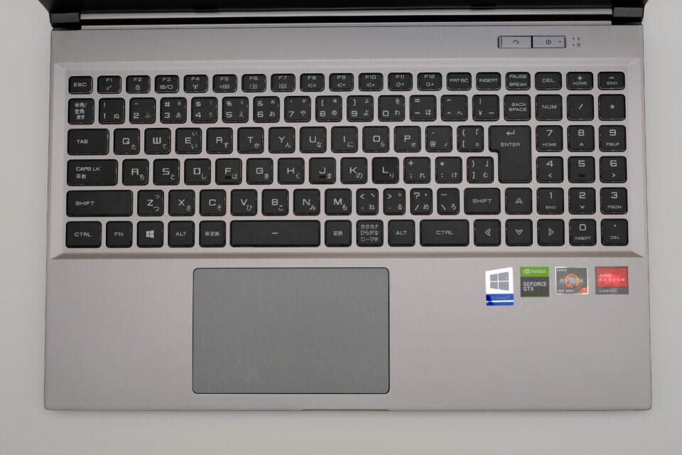 ドスパラ,raytrek G5-R,レビュー,ブログ,開封,写真,キーボード,