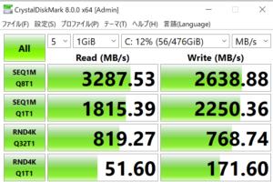 ドスパラ,GALLERIA RM5C-R36T,レビュー,SSD,転送速度,性能,ブログ,