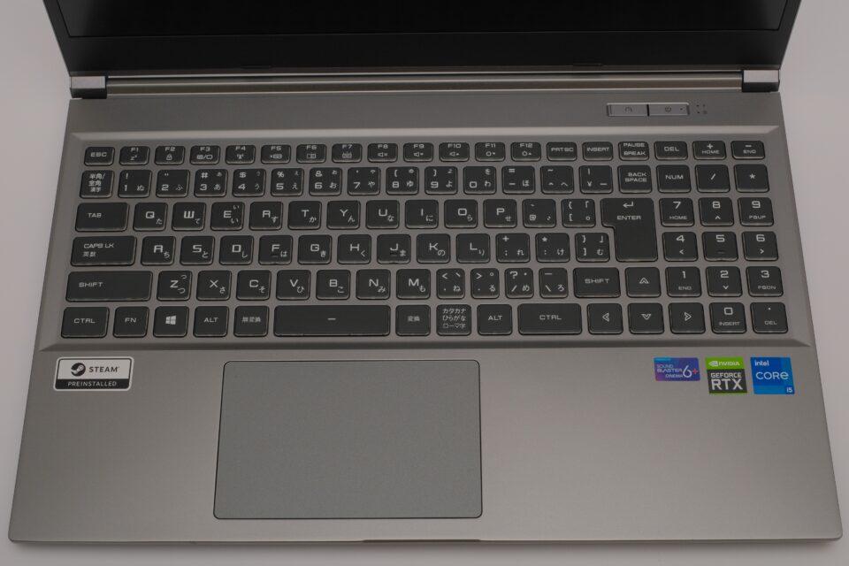 ドスパラ,GALLERIA RL5C-R35T,レビュー,感想,写真,キーボード