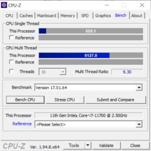DAIV Z7,CPU,Core i7-11700,比較,性能,レビュー,ベンチマーク