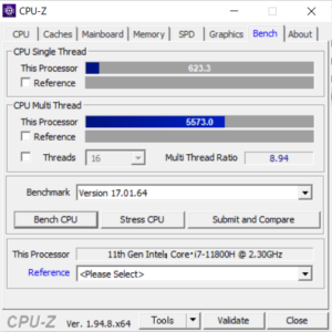 DAIV 5P,CPU,Core i7-11800H,比較,性能,レビュー,ベンチマーク