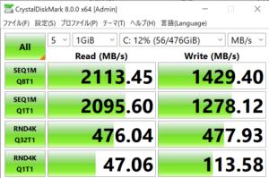 DAIV 5N,SSD,転送速度,レビュー